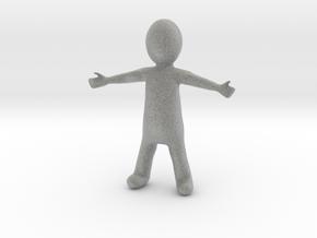 Small Figure in Metallic Plastic