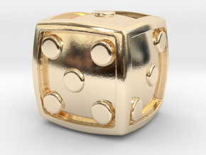 Num Dice  in 14k Gold Plated Brass