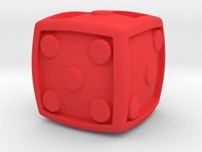 Num Dice  in Red Processed Versatile Plastic