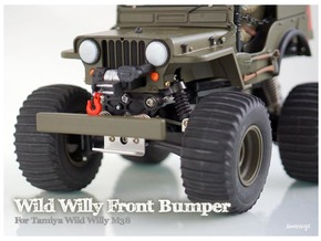 Simensays Wild Willy Bumper (filled) in White Processed Versatile Plastic