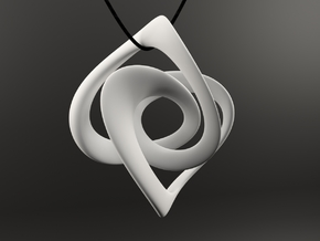 OBLIVION Necklace Pendant in White Processed Versatile Plastic