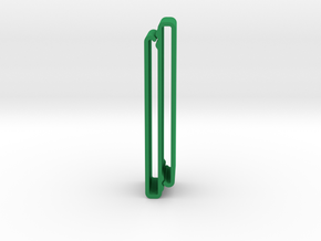 S Belt Clip Double Strap Molle (Medium Duty) in Green Processed Versatile Plastic