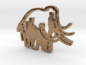 Caveman-designed Caveman Diet Keychain in Natural Brass