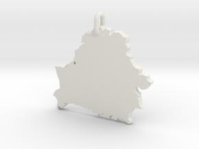 Кулон «Беларусь» in White Natural Versatile Plastic