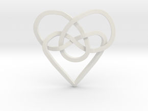 Infinity Heart Knot Pendant in White Strong & Flexible