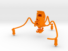 Shape-Drone Rover Desk Accessory  in Orange Processed Versatile Plastic