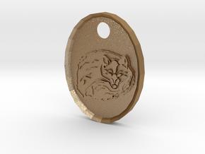 Fox Medallion in Matte Gold Steel