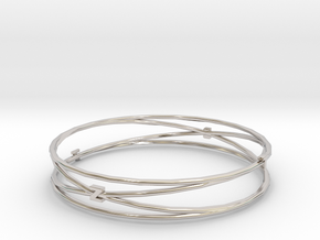 Bangle Tb2 render test in Rhodium Plated Brass