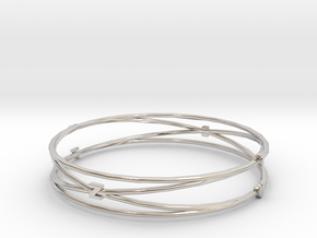 Bangle Tb2b Render Test in Rhodium Plated Brass
