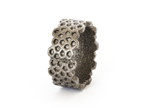 Cairo Ring A in Polished Nickel Steel