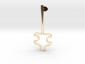 Autism Key Pendant in 14k Gold Plated Brass
