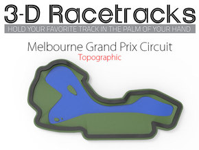 Melbourne Grand Prix Circuit in Full Color Sandstone