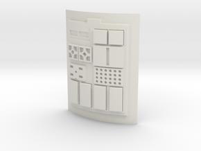 Comm pad - T2 in White Natural Versatile Plastic