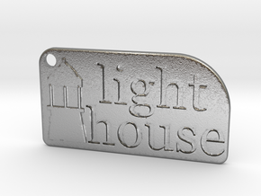 Light House Key Chain in Natural Silver