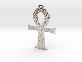 ANKH - 2 in Rhodium Plated Brass