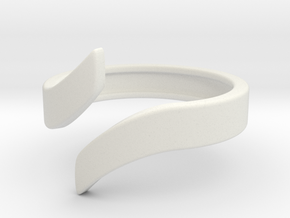 Open Design Ring (23mm / 0.90inch inner diameter) in White Natural Versatile Plastic