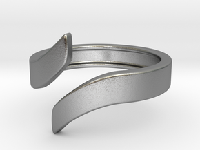 Open Design Ring (24mm / 0.94inch inner diameter) in Natural Silver