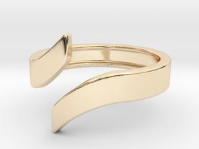 Open Design Ring (26mm / 1.02inch inner diameter) in 14k Gold Plated Brass