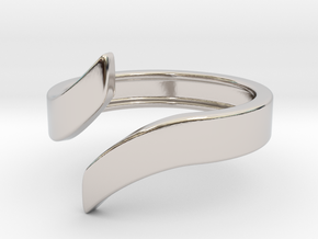 Open Design Ring (28mm / 1.10inch inner diameter) in Rhodium Plated Brass