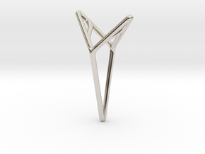 YOUNIVERSAL M, Pendant. Smooth Elegance in Rhodium Plated Brass
