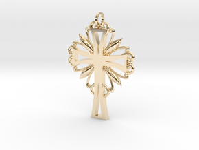 Decorative Cross in 14K Yellow Gold
