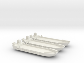 1/350 scale LCT-5 3 Off Closed Doors in White Natural Versatile Plastic