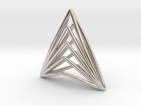 Silk Hand 01 Pendant in Rhodium Plated Brass