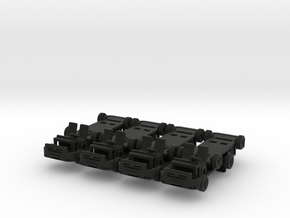 1-160 8x Ford Transit CHASSIS in Black Natural Versatile Plastic
