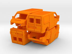 1-160 4x Ford Transit SHELL in Orange Processed Versatile Plastic