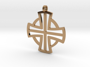 Small Pectoral Cross in Polished Brass