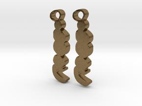 Sailor moon earings in Natural Bronze