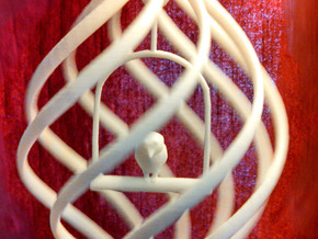 Birdcage Spinning Ornament  in White Natural Versatile Plastic