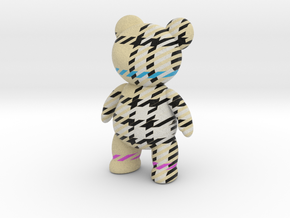 Teddy Bear - Check in Full Color Sandstone