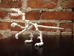 ModiRaptor DIY Dino Kit in White Strong & Flexible