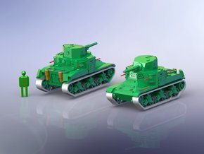 US M2A1 Medium Tank 1/285 6mm in Frosted Ultra Detail