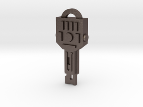 idw: Vector Sigma key in Polished Bronzed Silver Steel