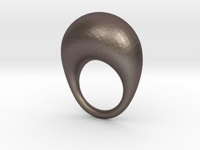 BulgeRingD20mm in Polished Bronzed Silver Steel