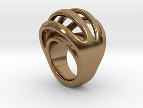 RING CRAZY 15  -  ITALIAN SIZE 15 in Natural Brass
