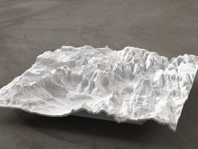 6'' Zion National Park Terrain Model, Utah, USA in White Natural Versatile Plastic