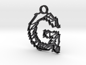 "Sketch ""G"" Pendant in Polished Grey Steel"