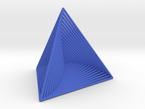 0046 Tetrahedron Line Design (5 cm) #001 in Blue Strong & Flexible Polished