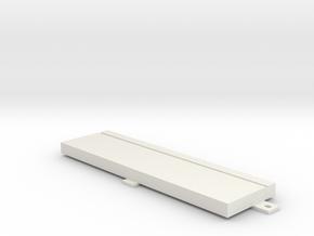 "Floppy Cover 5,25"" compatible to Amiga 4000 in White Natural Versatile Plastic"