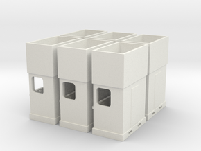 Ho Scale carnival ticket booths in White Natural Versatile Plastic