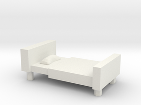 Bed in White Natural Versatile Plastic