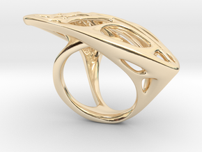 Butterfly Ring [ Size 6 ] in 14k Gold Plated Brass