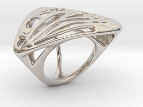 Butterfly Ring [ Size 8 ] in Rhodium Plated Brass