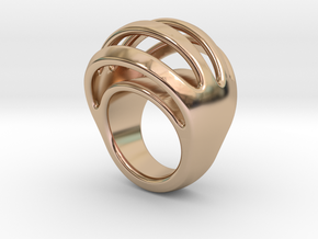 RING CRAZY 17 - ITALIAN SIZE 17 in 14k Rose Gold Plated Brass