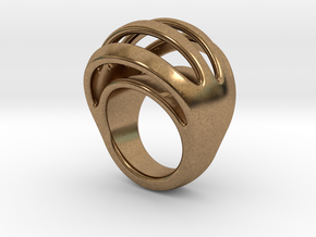 RING CRAZY 21 - ITALIAN SIZE 21 in Natural Brass