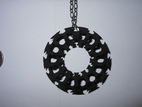 Rib Charm in Black Natural Versatile Plastic
