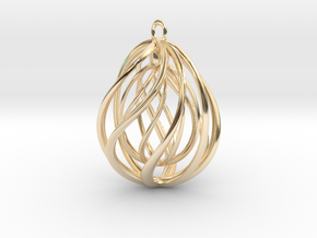 Flow in 14k Gold Plated Brass
